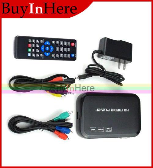 Full HDMI HD 1080P Media Center Player Input Sd Usb Hdd Output Av Vga RM RMVB AVI MPEG4 TV Divx Mp4 H.264 Flv Mkv Music Movie(China (Mainland))