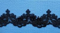 8 cm wide black lace mesh lace trim DIY corded lace garment decoration