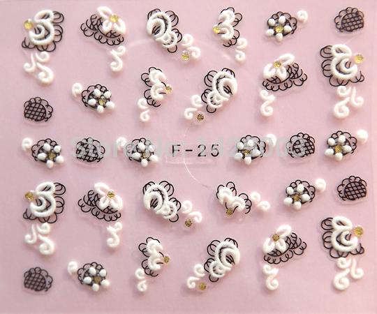 Mixed-20 various 24 designs enfeites de natal Floral 3D Nail Stickers Decals Manicure Nail Tools Decorations Adesivo Para Unhas(China (Mainland))