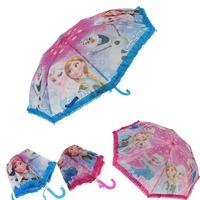 Kid Boys Girls  Frozen Foldable Anna Automatic Hook Rain Sun Umbrella Gift
