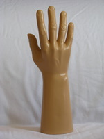 Promotion! High quality  unbreakable realistic plastic  male mannequin hand for watch&gloves display