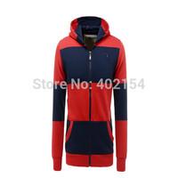Free Shipping 2014 Sale Mens Coat Hoodies Sweatshirts Af Autumn Korean Men's Sweater Hooded 3Colour