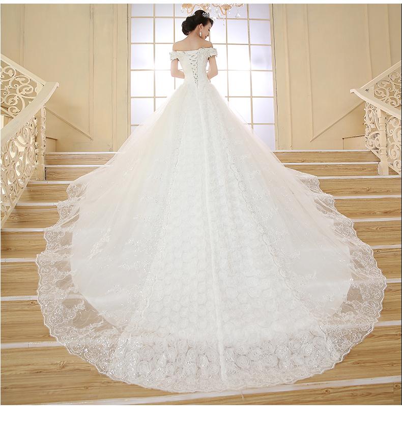Alta qualidade 2015 nova elegante luxo diamante tamanho grande grávidas longo arrastando strap nupcial especiais promoções FX30(China (Mainland))