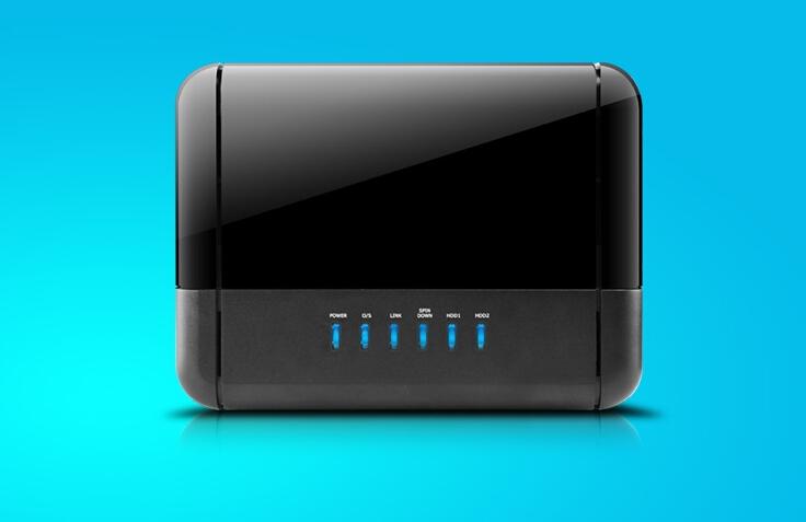 2-Bay Gigabit NAS BOX+USB3.0/ Giga LAN (10/100/1000)+SAMBA/ WebDAV/ FTP/ DHCP/UPnP AV Media server/ Bit Torrent (client)(China (Mainland))
