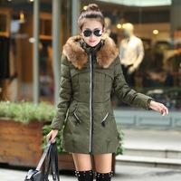 2014 new winter women's fashion Slim Hooded down padded coat collar Nagymaros winter Jacket down coat