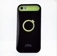 Korea luminous shell for iphone 5   4S phone shell casing bracket shell drop resistance silicone protective sleeve