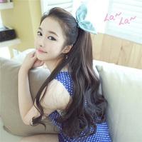 2014 New Fashion Japanese fake ponytails wig Bundled Ponytails Braids hair accessories wigs Free Shipping