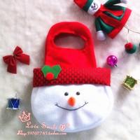 Christmas small snowman gift bags Christmas tote bag Christmas decoration supplies