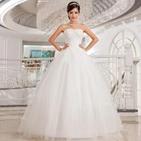 new 2014 han edition bind princess dress sequined flower sweet wedding dress