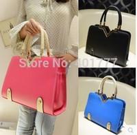 2014 women leather handbag Korean style vintage women messenger bags lady desigual  shoulder plaid bag handbags