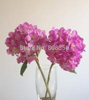 "Silk Hydrangeas 10pcs Long 36cm/11.42"" Dia. 16cm/6.3"" Simulation Artificial Hydrangeas Flowers for Wedding Xmas Party Decoration"