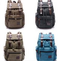 Pure Color Outdoor Travel Backpack Leisure Canvas Shoulder Bag Korean Men Military Tactical Cover Bag EJ640585