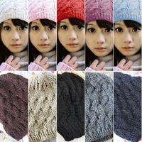 Pure Color Floral Twist Women Men Braided Knit Warm Autumn Winter Cap Hat Hats For#65925