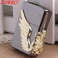 The new Hongkong Zorro Pro Zorro copper ice king kerosene lighter wholesale  Z8492