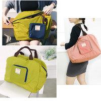 1pcs Women's Causal Solid Waterproof Nylon Foldable Large Tote Shopping Bag