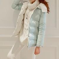 free shipping  2014 new Korean fashion casual winter down jackets women down coat high quality Female Jacket Parka