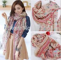 Free Shipping!2014 New Bohemina National scarf Fashion Vintage women scarves Cotton Voile Scarf Shawl Whoelsale 3pcs/lot