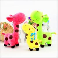 27cm Children Soft Plush Toy Cute Plush Giraffe Dot Colorful Doll Kids Gift Free shipping