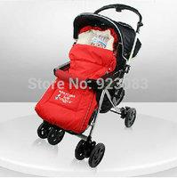 New baby stroller accessories winter Original baby stroller bag warm footmuff red blue stroller sleeping bag free shipping