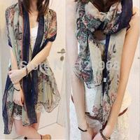 2014 Big size Bohemia national trend scarf print flower fashion scarf women free shipping wholesale 3pcs/lot