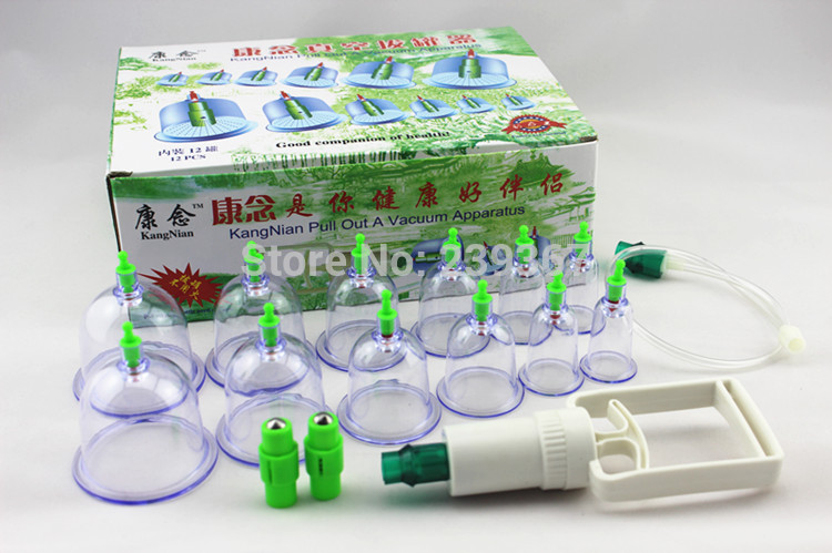 Massager Acupuncture Care New Vacuum Cupping Device Pull Gas Cylinders 12Tank Thickening Version 8 Magneticneedle Free Shopping(China (Mainland))