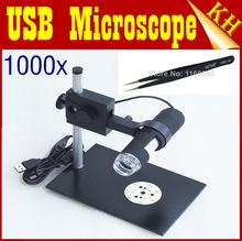 Grátis frete HOT venda 8LED 2MP Digital Microscope USB 1000X microscópio Digital + 1 PCS pinças(China (Mainland))