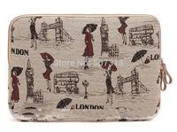 "14 inch london gril canvas Laptop Sleeve Bag Notebook Inner Case for  14.0"",14.1"",14.4"" laptop Bag"