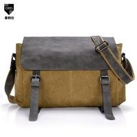 Man canvas handbags men messenger bags hand shoulder diagonal British retro leisure bag Korean version vintage package handbags