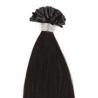 U-tip/Nail Pre-bonded Hair Extension Straight Hair Natural Black Hair Color(#1B)  100g/pack 0.5g/strand 200 strand