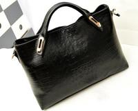 2014 new fashion Crocodile Grain women messenger bags Europe Ladies Tote bags women handbag -5