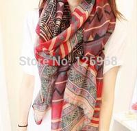 2014 Big size Bohemia national trend scarf female rhombus geometry fashion scarf women free shipping wholesale 3pcs/lot