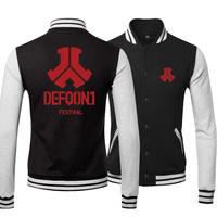 hot sell 2014 Free shipping heavy metal band defqon.1 band Classic Jacket lover`s Sweatshirt baseball uniform