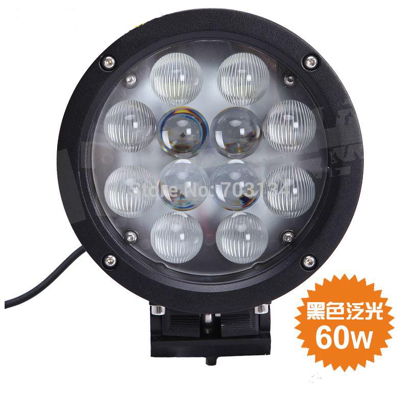 2x CREE 60W 7inch Round High Power Led work light bar 12v 24v Led Offroads Spotlight Projector Headlights 4x4 Truck SUV Fog lamp(China (Mainland))
