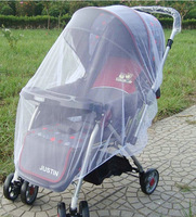 2014 New stroller accessories super plus size mosquito net for baby stroller white pram mosquito free shipping