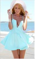 014 The latest beach dress before the U word sexy big pendulum bandage mini bodycon dress frozen dress elsa dress