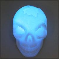 New Fashion Halloween Colorful Flash LED Skull Night Light Lamp Decoration Gift #61067
