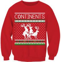 East Knitting G99 Brand 2014 Women Hoody Harajuku Christmas Deer Print Red Sweatshirt Women Pullover Free Shipping