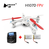 Free Shipping with 2 Extra 500mAh Battery Hubsan X4 H107D FPV 4CH 6 Axis RC Drone Quadcopter RTF with Camera VS H107C Helicopter
