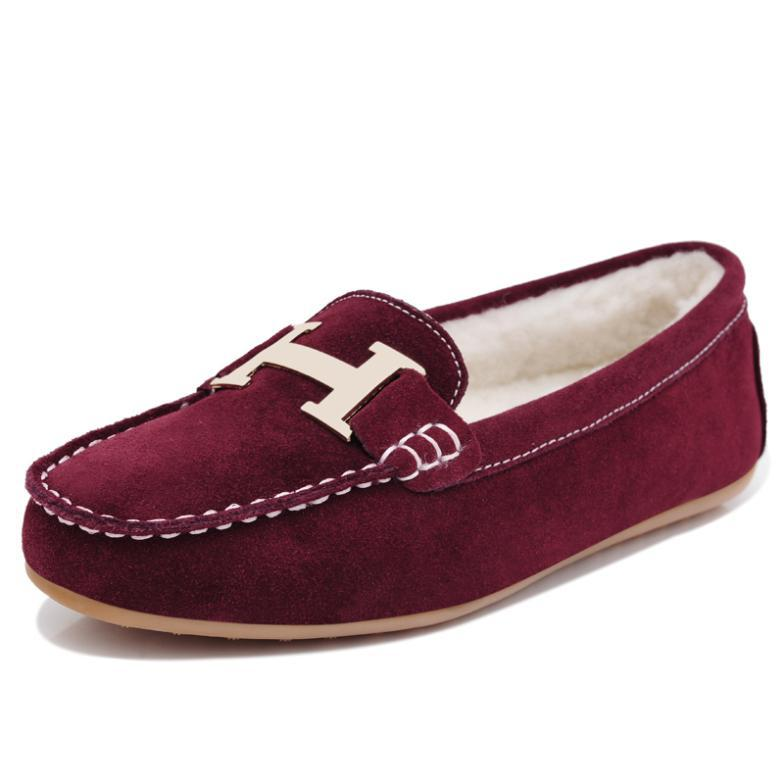 best slip on shoes casual suede wool padded shoes