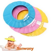Resuli 1X Safe Shampoo Shower Bathing Bath Protect Soft Cap Hat For Baby Children Kids New Free shipping & wholesale