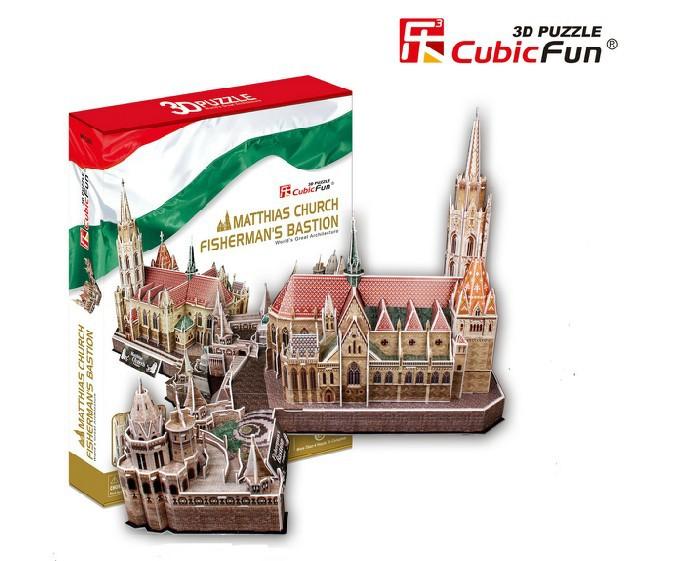 2015 Space Marine free Shipping Original Cubicfun 3d Puzzle Big Building Model Hungary's Church Children's Toys Birthday Gift(China (Mainland))