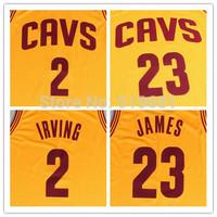 Free Shipping,2015 new cheap CAVS #23 James #2 Irving Jersey Stitched Men's Basketball Jerseys,size S-XXL