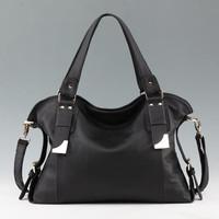 New Tide 2015 Genuine Leather Handbag Women Cowhide Leather Tote Female Shoulder Bag Fashion Shoulder Bag Vintage Messenger Bag