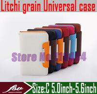 [ 10pcs/lot ] [ Litchi grain ] 5.0''inch - 5.6''inch wallet flip cover case for ZoPo zp910 zp900 leader zp900s ZP998 phone sets