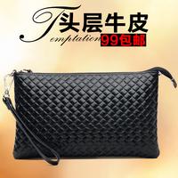 Qidell female day clutch fashion cowhide shoulder bag female tote bag genuine leather female bag small
