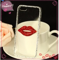 2014 New Rhinestone Diamond Case Back Cover Skin Case Transparent Protector Case For iPhone 6 4.7 Inch ,Free Shipping