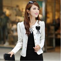 New Fashion Female Blazer Women Plus Size 4XL 5XL Clothing Spring Autumn Short Double Breasted Jacket Slim Suit Blaser Feminino