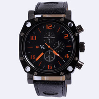 Fashion quartz irregular shape watch leather men brand elegant unique design casual watch new with tags wholesale free shipping