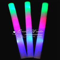 3 modes led light foam stickChristmas decoration 5pcs/lot multi color stick ,Colors changing glow foam stick for party festival