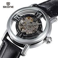 New clock men Casual relogio masculino luxury Switzerland mechanical movement Genuine leather TOP Brand Business Men Wristwatch